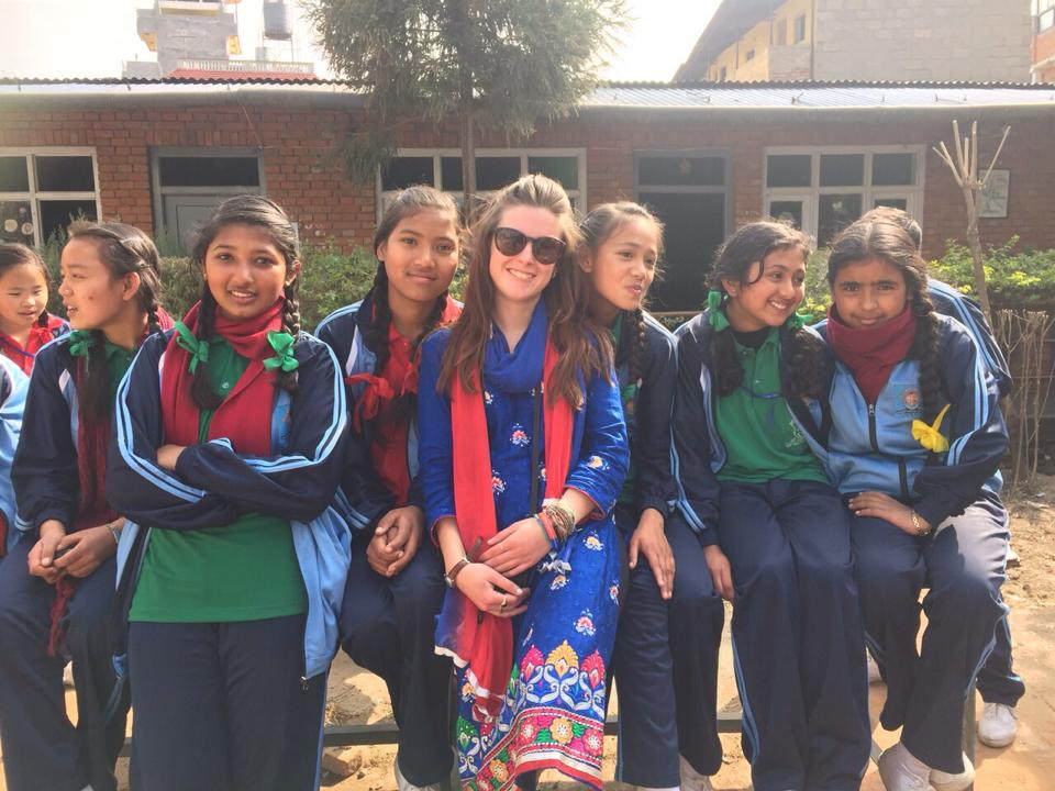 Nepal was the carving in the woodwork for Elly as a fresh teacher