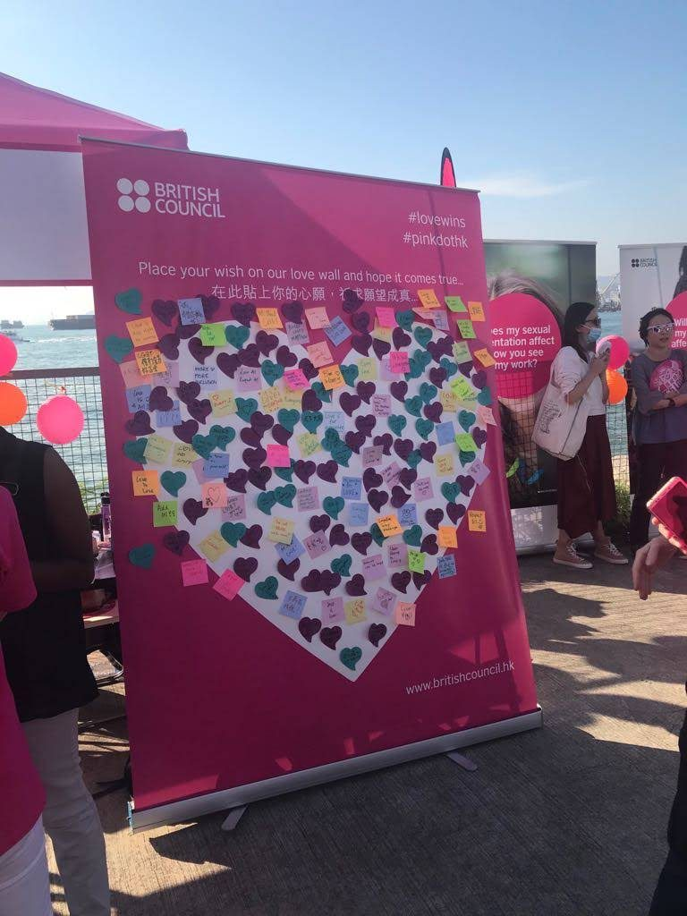 The Pink Dot Festival had a range of activities and giveaways