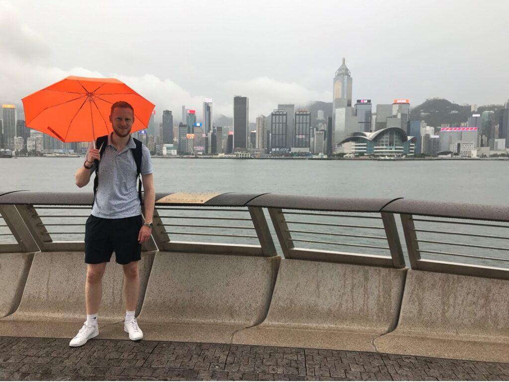 The Hong Kong skyline is breathtaking