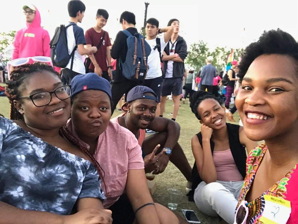 Kgothatso explored the festival with a group of friends