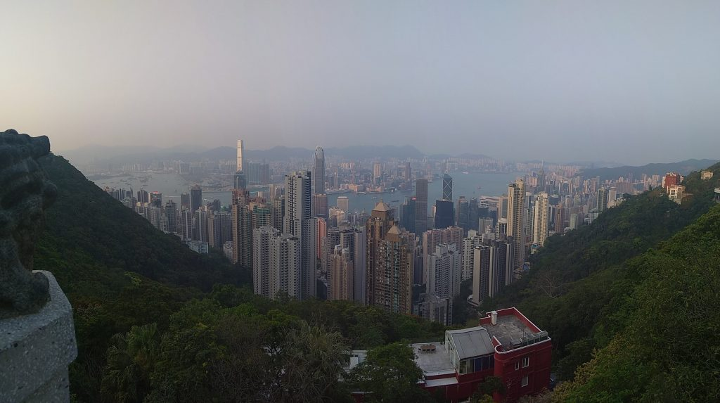 The skyline view from The Peak is breathtaking