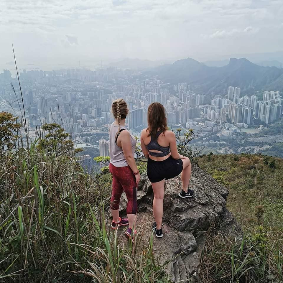 Elly spends her weekends hiking in Hong Kong