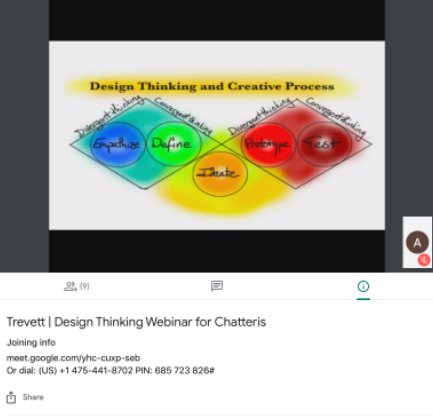 One of the webinars was Design Thinking for Teachers