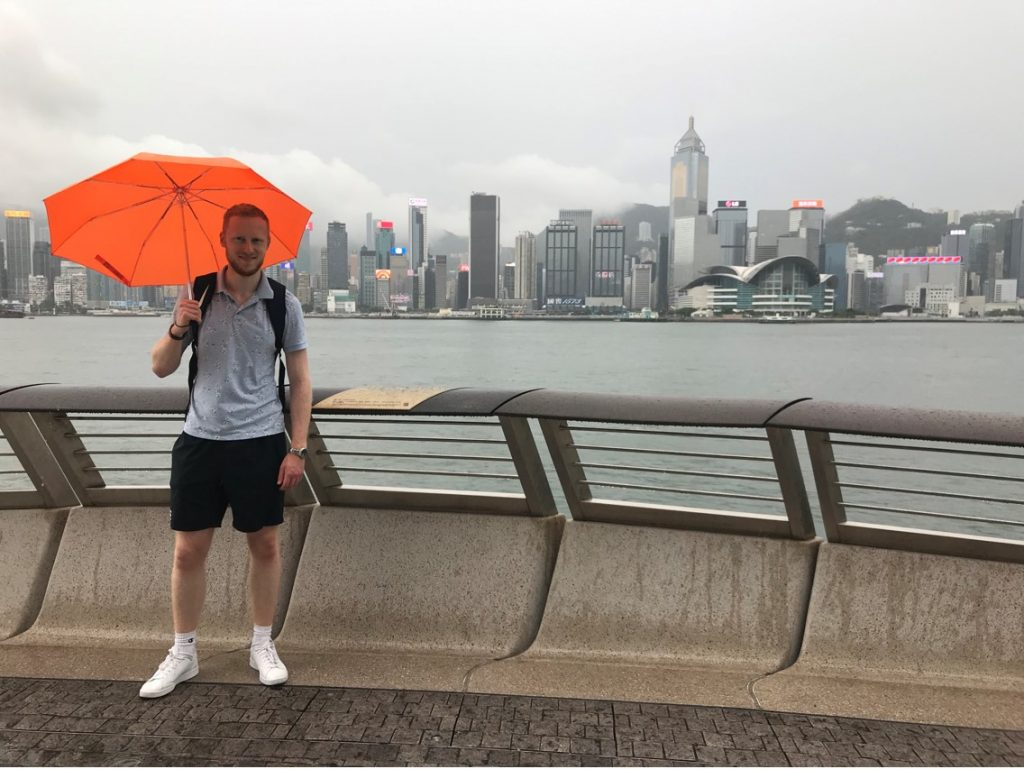 The Hong Kong skyline is breathtaking