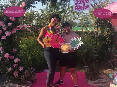 Kgothatso at the Pink Dot Festival, an annual celebration of diversity and equality at Hong Kong's West Kowloon Park