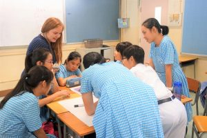 """Chatteris tutors lead a lesson at one of our """"One for One"""" school partners"""
