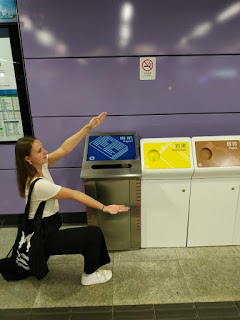 Recycling is easy at the MTR stations on your way to work