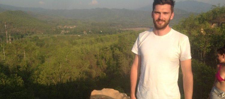 Tim enjoying the perfect Thailand scenery