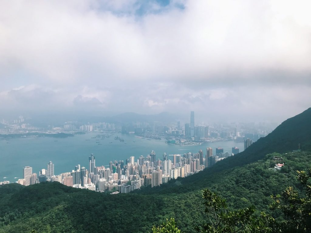Views of the city and mountains from Hong Kong Island  Image by Jack Salmon