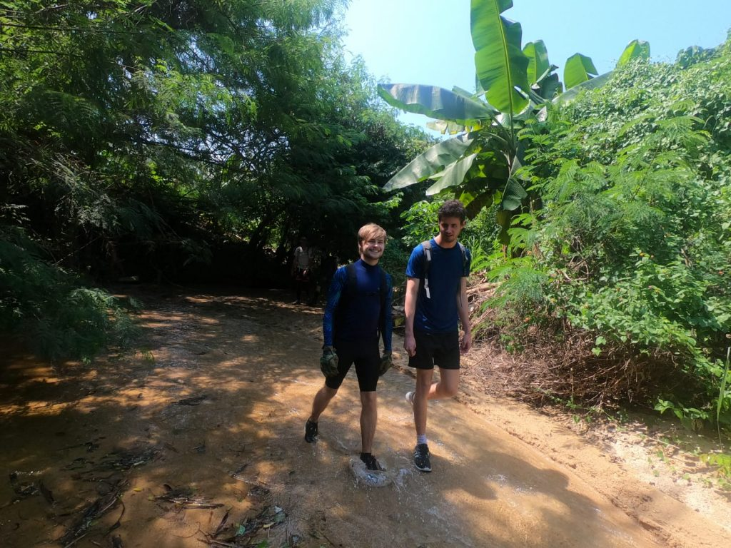 Chatteris Tutors Luke and Jack arrive at the entrance to the Gan Bai hike | Image by Luke Athow