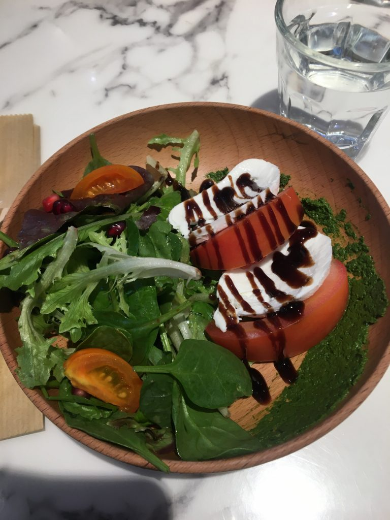 OVOCAFE's Caprese Salad, included in the Lunch Set | Image by Yasmin Mahal