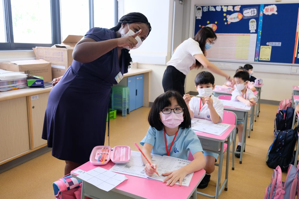 An MOOC on teaching key stage 1 student aided Patience in her transition between our post-secondary and primary programmes   Image by Conservative Baptist Lui Ming Choi Primary School